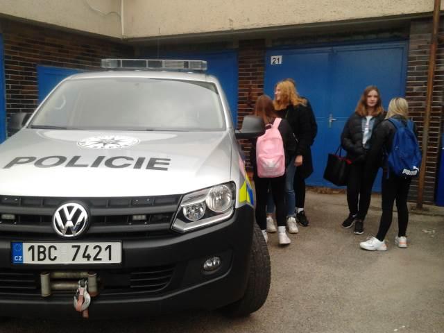 Z1 na exkurzi u Policie