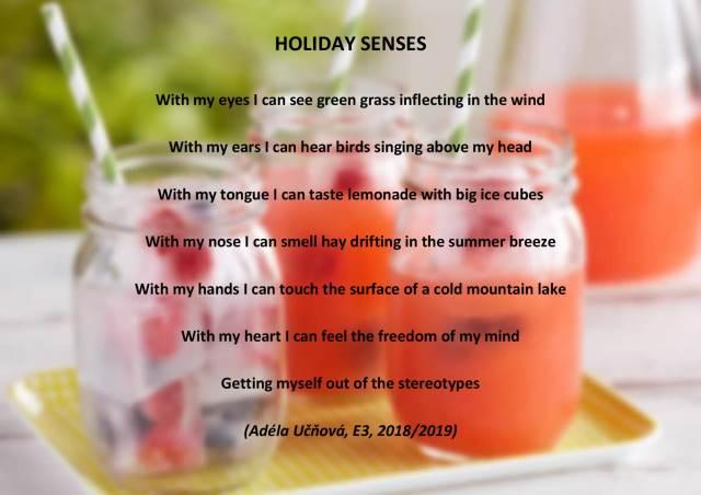 Holiday Senses aneb prázdniny všemi smysly