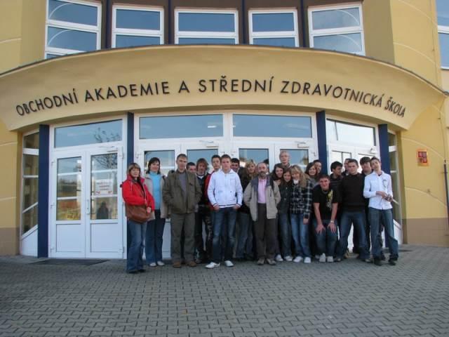 Francouzští studenti v Blansku