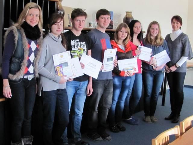 Školní a okresní kolo Olympiády z německého jazyka 2012/13