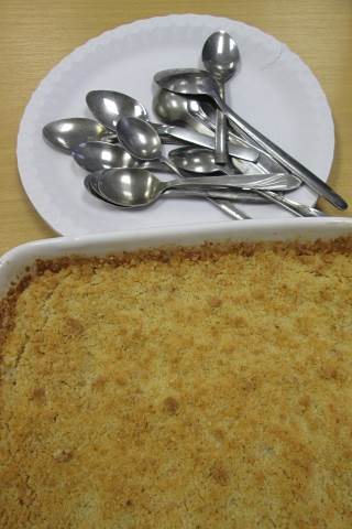 Apple crumble - yum!