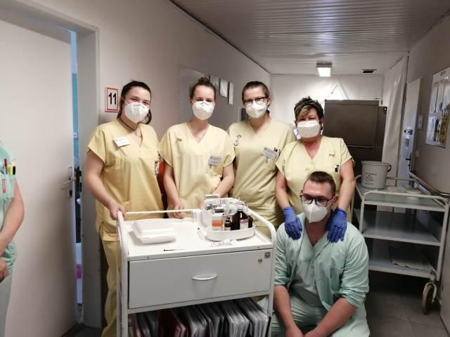 Naši žáci v nemocnicích